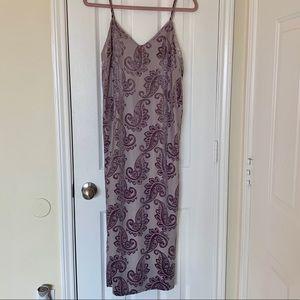NWOT Gray slip midi dress 🐘velvet print ⭐️size s